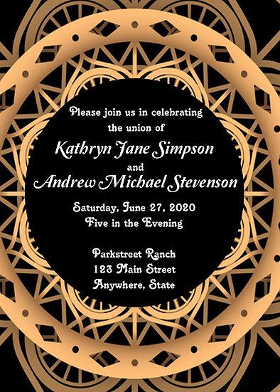 Deco Circle Wedding Invitation
