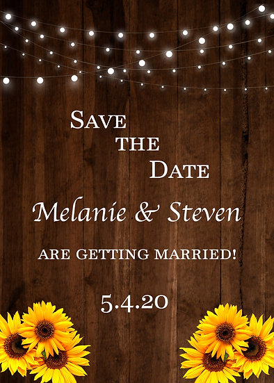 Lights and Daisies Save the Date