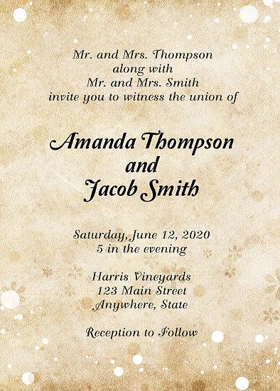 Beige Flowers Wedding Invitation