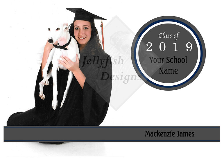 White Background Photo Graduation Announcement