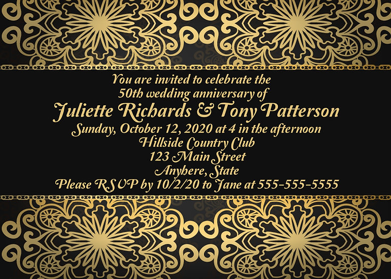 Black and Gold Anniversary