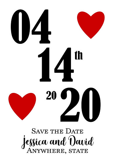 Large Date Save the Date