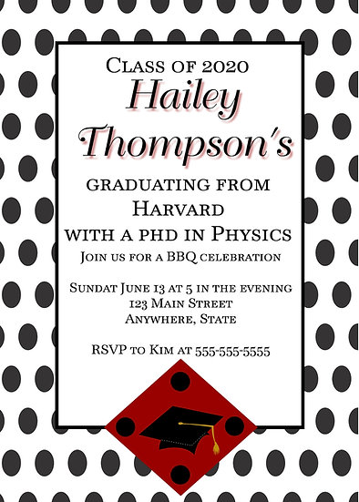 Polka Dot Graduation
