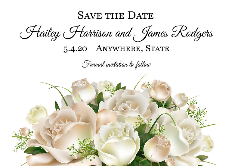 White Rose Save the Date