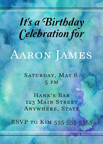 Marble Birthday Invitation