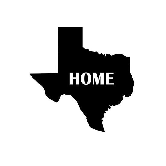 Texas Home Decal