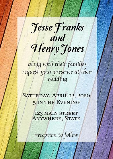 Rainbow Wedding Invitation