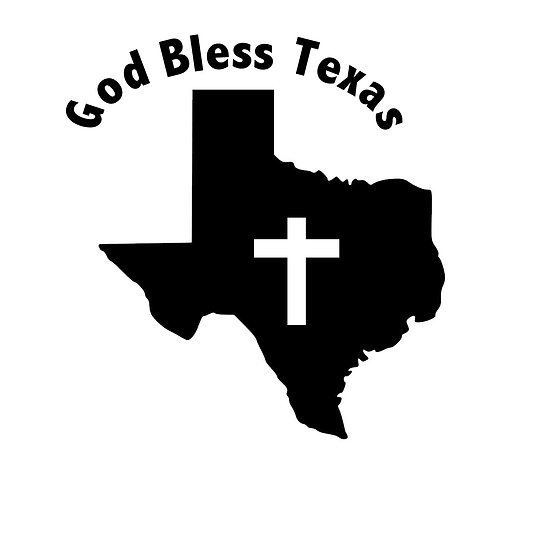 God Bless Texas Decal