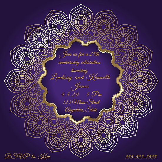 Purple and Gold Anniversary