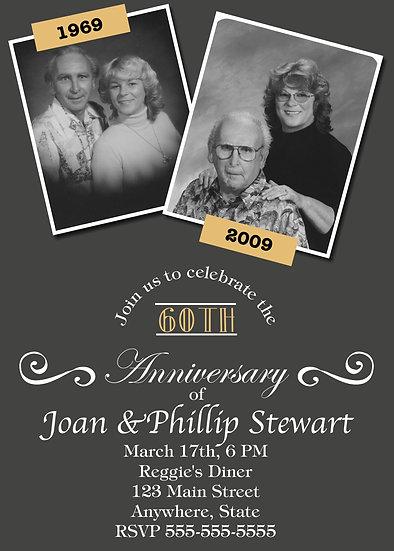 2 Picture Anniversary Invitation