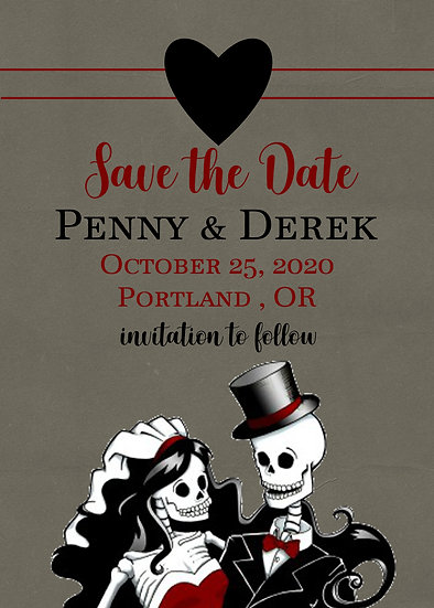 Skeleton Save the Date