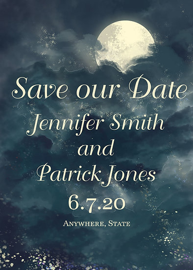 Watercolor Night Sky Save the Date