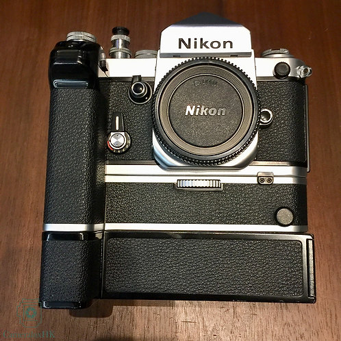 Nikon F2 Silver With Eye Level Prism Viewfinder + MD-2 + MB-1  