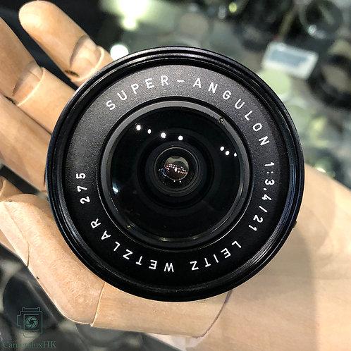 Leica Super-Angulon 21mm f3.4 Black 11103 Yr 1975