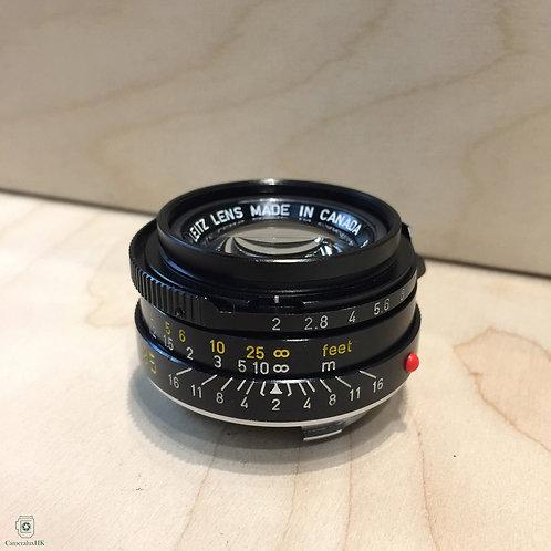 Leica Summicron-M 35mm f2.0 Black Canada 7 Element Tiger Paw 11310 Yr1980(SOLD)