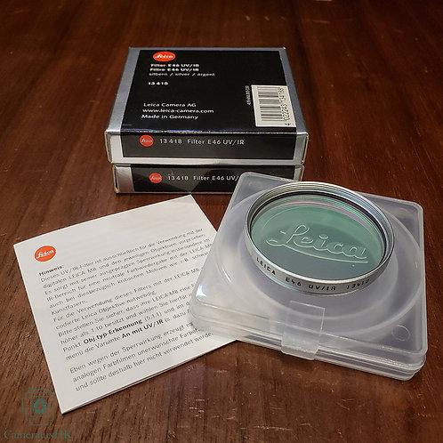 Leica E46 UV / IR Filter Silver 13418