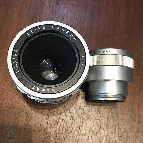 Leica Elmar 65mm f3.5 Visoflex 1st Version 11062 Yr1961 w/ Extension tube 16471