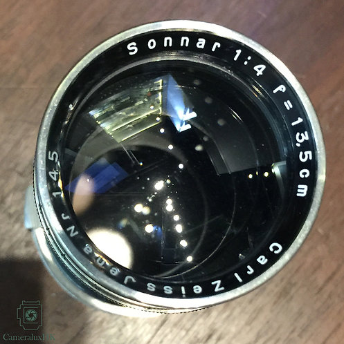 Carl Zeiss Jena Sonnar 13.5cm f4.0 Black Paint Nickel RF Mount(Pre War)(Rare)