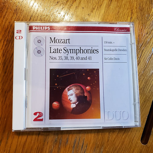 Mozart : Late Symphonies Nos. 35, 38, 39, 40 and 41 by Philips 2CD