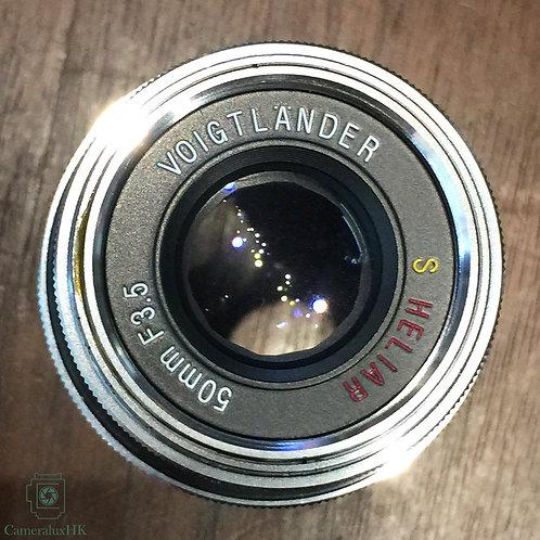 Voigtlanders Heliar 50mm f3.5 Nikon S Mount with hood