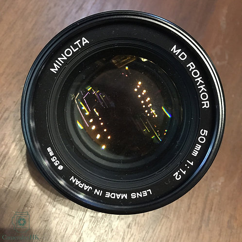 Minolta MD Rokkor 50mm f1.2 SR Mount