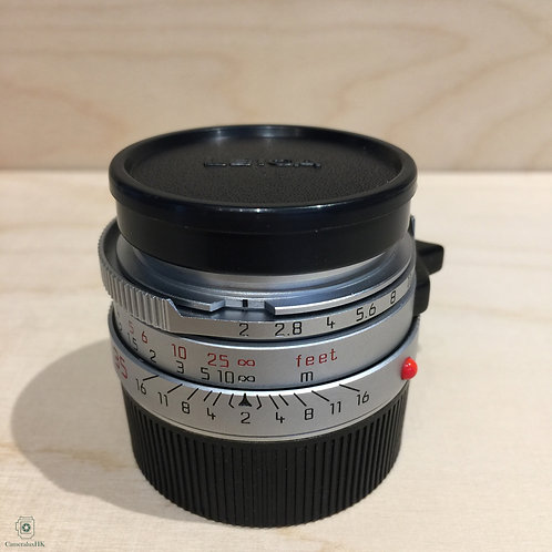 Leica Summicron 35mm f2.0 Silver Pre-A (7 Element) with hood(SOLD)