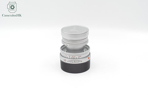 Leica Elmar-M 50mm f2.8 Collapsible E39 Chrome 11823 /w hood 12549