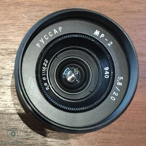 Russar Pyccap MP-2 20mm f5.6 Black LTM
