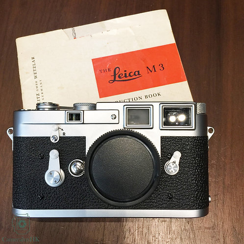 Leica Big M3 Camera body Yr 1959 with instruction book