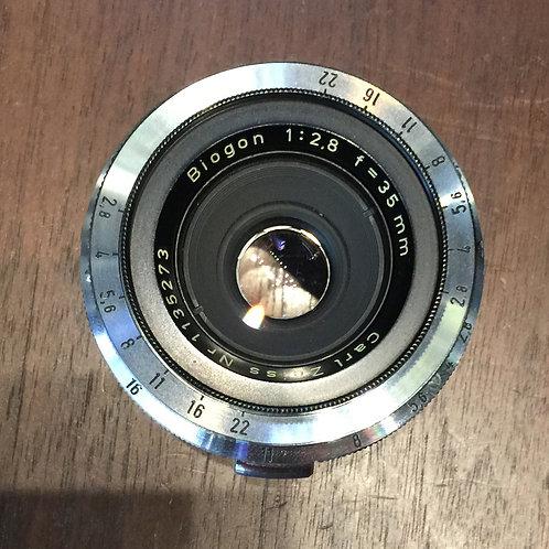 Carl Zeiss Biogon 35mm f2.8 Contax RF Mount(Rare)