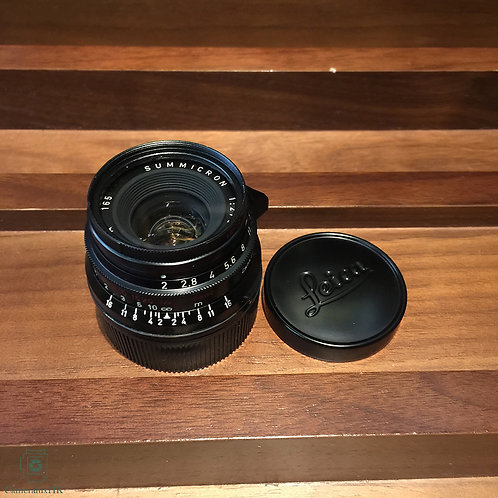 Summicron 35mm f2.0(8 element) Yr1959 Repainted blk paint by Kanto(Sold)
