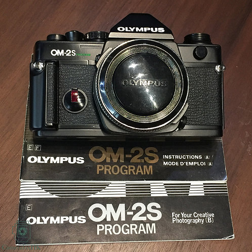 Olympus OM-2S Program SLR Film Camera Black Body with Manual