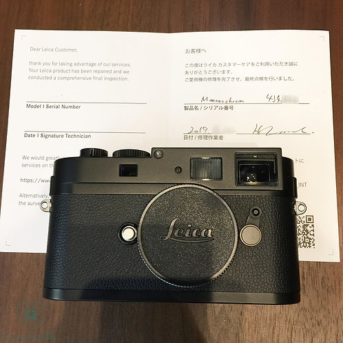 Leica M Monochrom Camera Black 10760 CCD replaced on 2019(with supporting)(Sold)