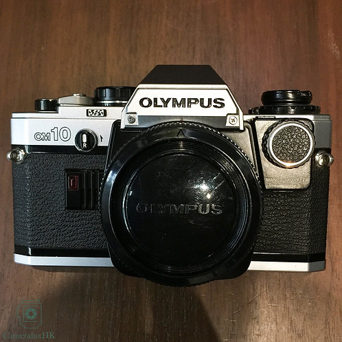 Olympus OM-10 SLR Film Camera Silver Body with electronic shutter