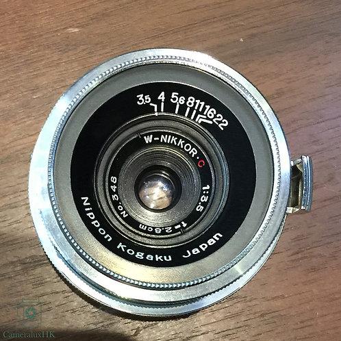 Nippon Kogaku Japan W-Nikkor-C 28mm f3.5 Silver Nikon S Mount