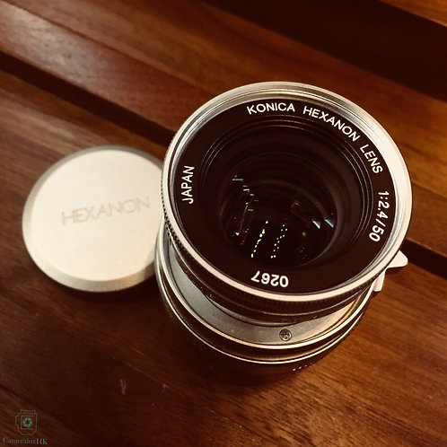 Konica Hexanon 50mm f2.4 Collapsible Silver M39(SOLD)