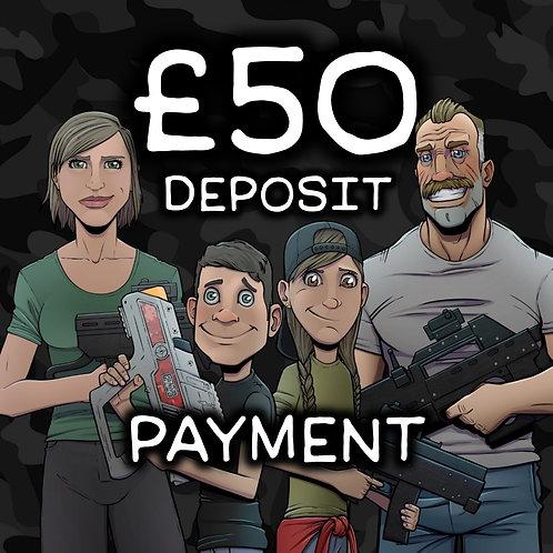 £50 Deposit Online Payment