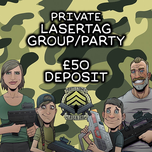 THURS 19TH AUG - LASERTAG PARTY/GROUP BOOKING  (VARIOUS START TIMES)