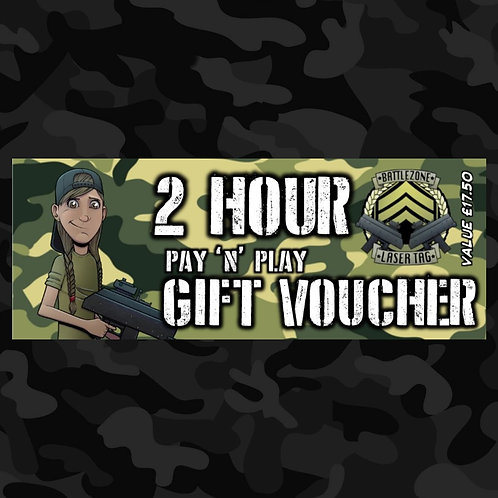 2 Hour Pay 'N' Play Voucher