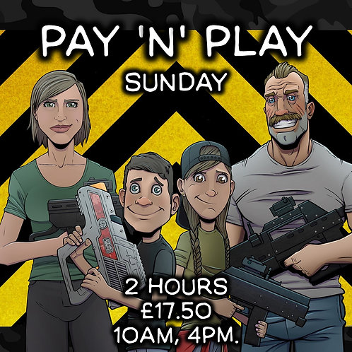 PAY 'N' PLAY SUN 27TH SEPT 2 HOUR (VARIOUS START TIMES)
