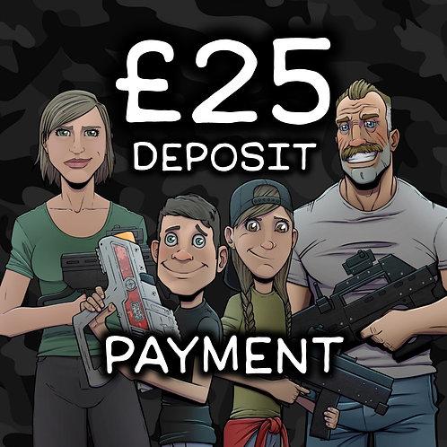 £25 Deposit Online Payment
