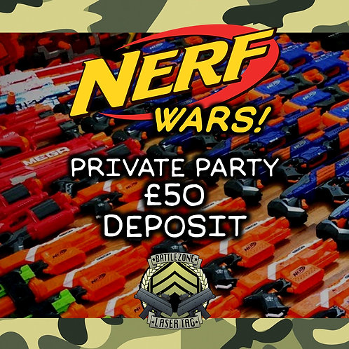 SAT 28TH AUG - PRIVATE NERF PARTY  5.30PM START TIME