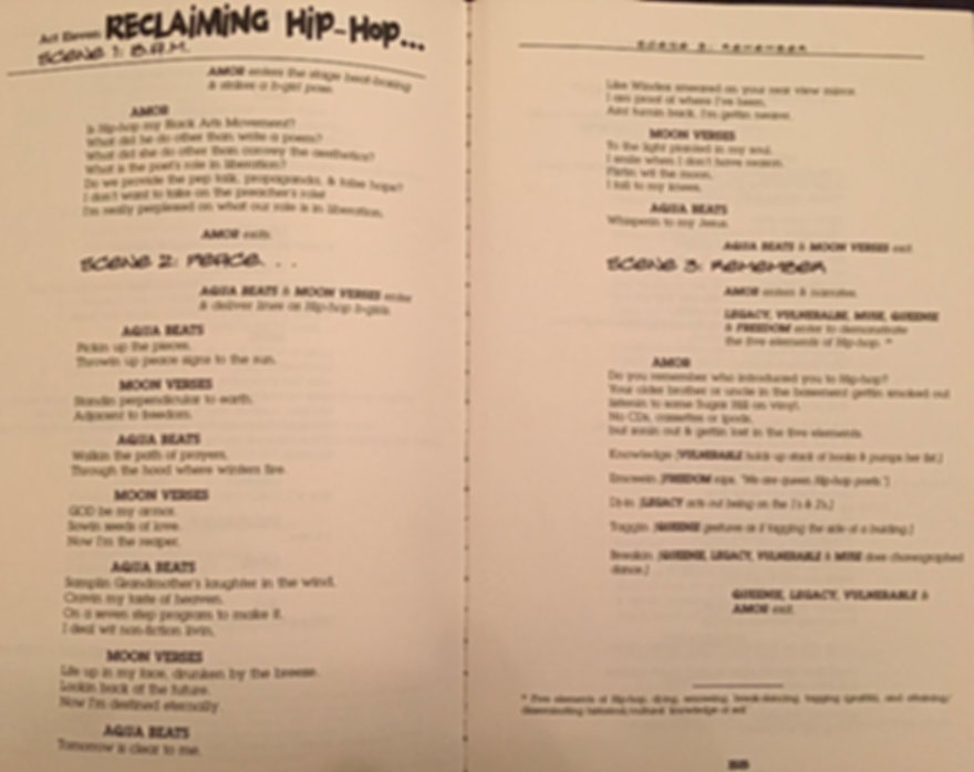 Reclaiming Hip-Hop, AquaBeats and MoonVerses, Vol 1. camil williams and veronica bohanan
