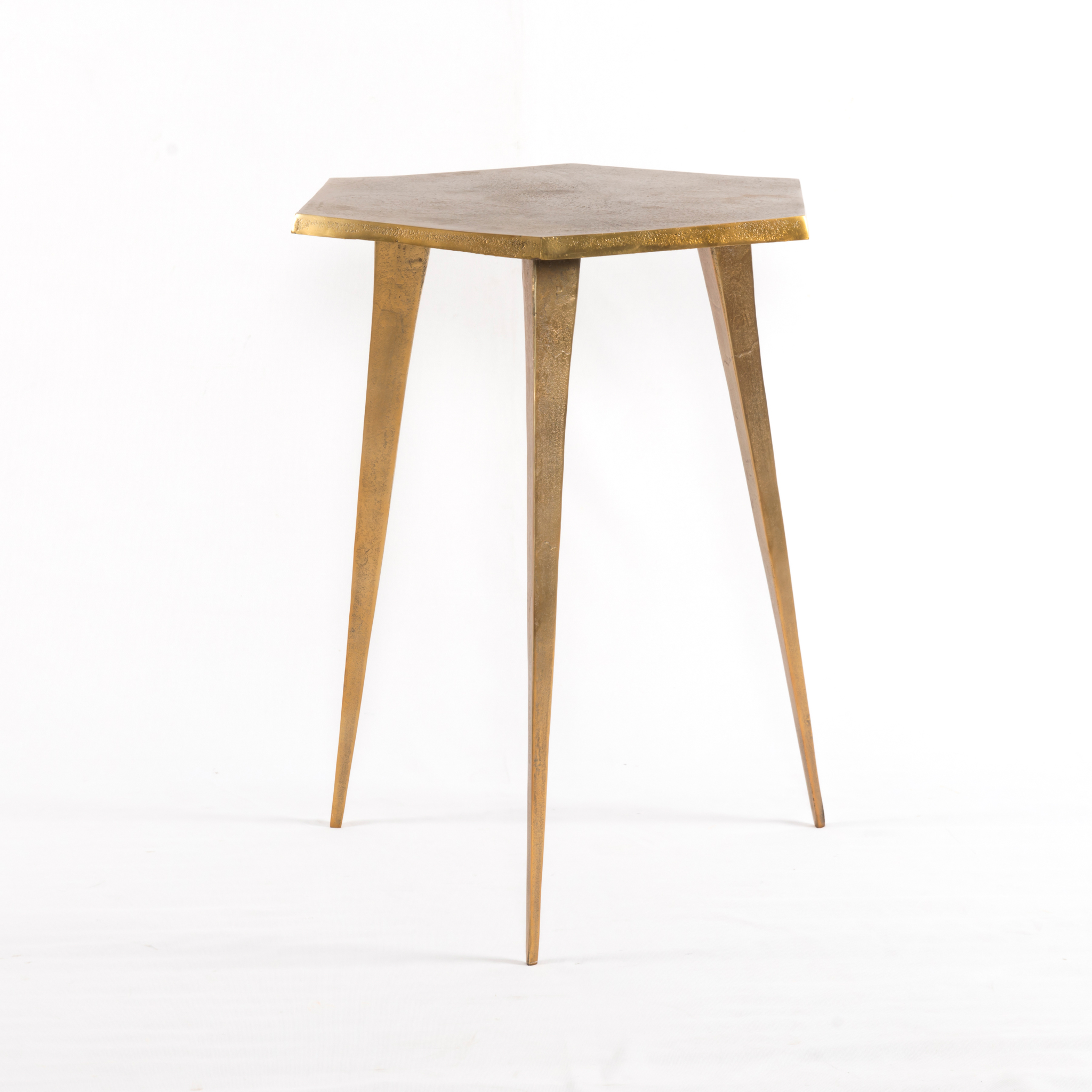 Raw Brass End Table