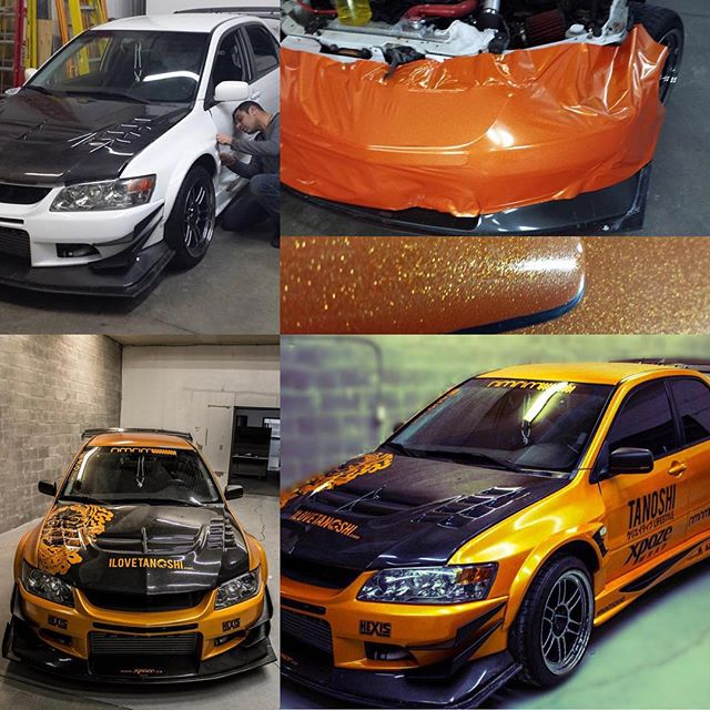 Cambio de color Orange sparkle #Hexis #wrappingmarbella #carwrapping #sevilla #marbellalife #marbell