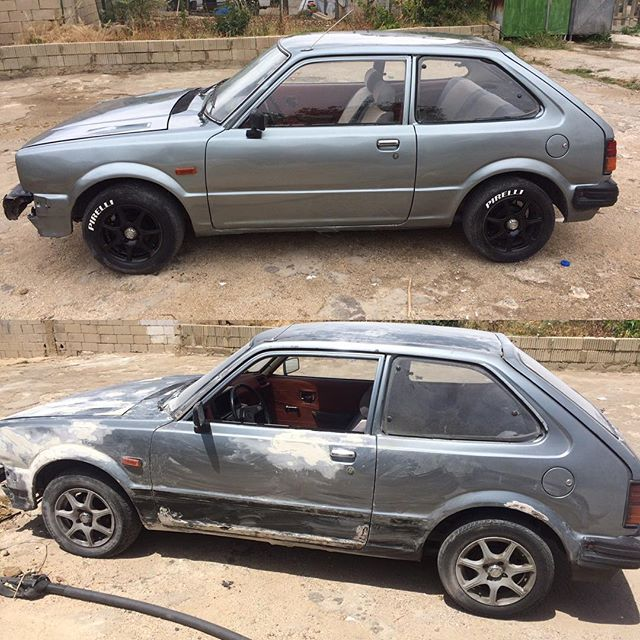 Project done! #civic #honda1982 #civic82 #honda #classicrestauration #3mglossgrey