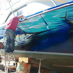 Barco de nuestro cliente Jason Pipe! #LaGomera #pescadeportiva #marlinfishing #boatwrap #barco #barc