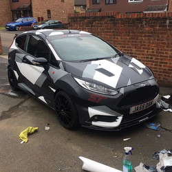 Ford Focus ST camo wrap #ford #fordst #fordfocusst #3m