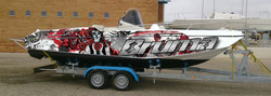 bateau covering boat wrapping,