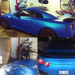 Great wrap that we did back in December for our buddy Justin!_#carwrap #3mwraps #gtr #embossedwrap #